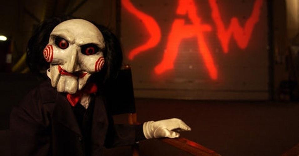 Jigsaw é o boneco dos do HQ e filme Jogos Mortais