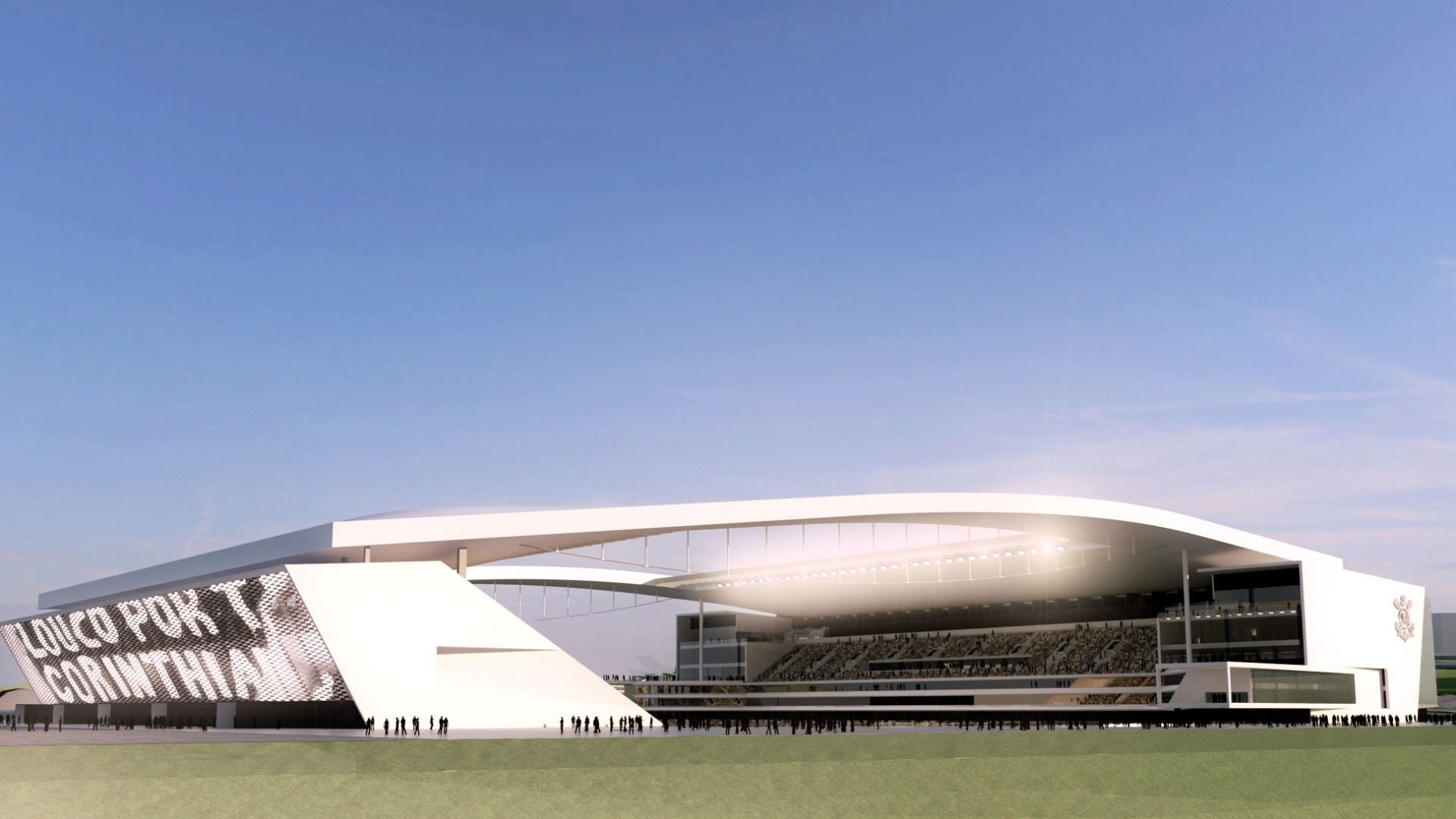 Maquete digital da arena do Corinthians