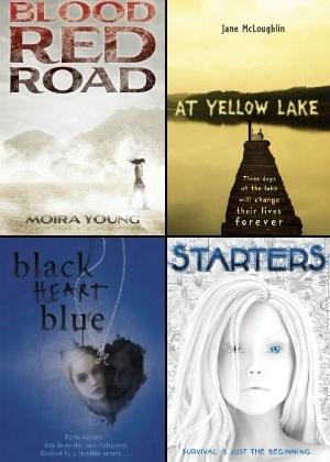Capas de quatro livros jovens que estão entre as apostas das grandes editoras para 2012
