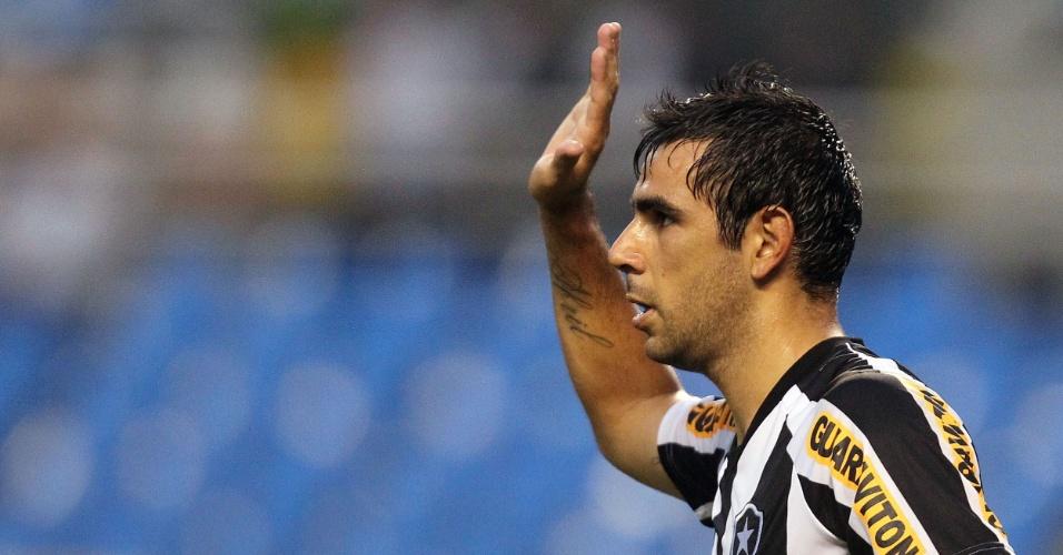 Herrera comemora um de seus dois gols na vitória do Botafogo sobre o Friburguense, por 3 a 1