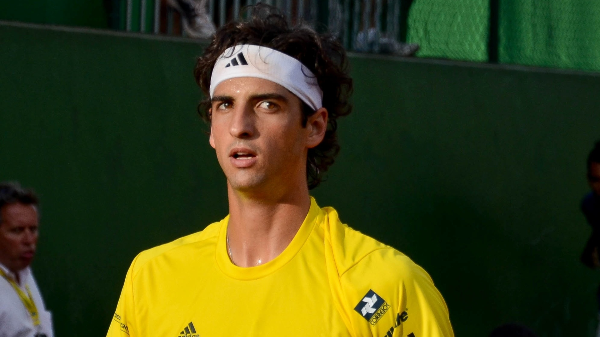 Tenista brasileiro Thomaz Bellucci durante partida contra o colombiano Giraldo
