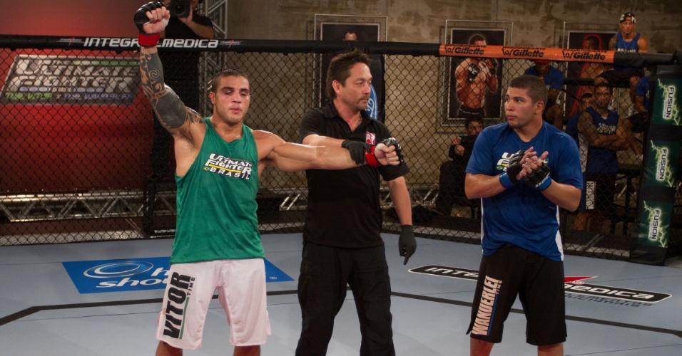 Daniel Sarafian comemora vitória e a vaga na semifinal do TUF Brasil