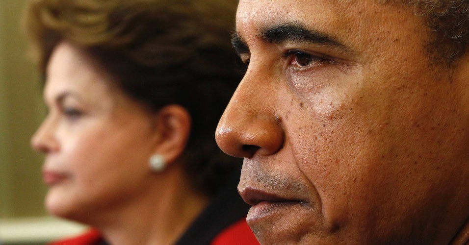 O presidente americano, Barack Obama, recebeu a presidente Dilma Rousseff nesta segunda-feira (9) no Salão Oval da Casa Branca, em Washington