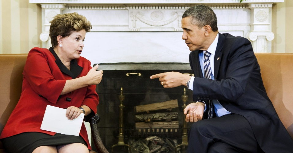 Presidente Dilma Rouseff se encontra com presidente dos Estados Unidos, Barack Obama, no Salão Oval da Casa Branca