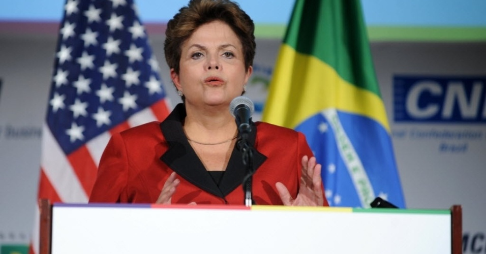 Presidente Dilma Rousseff discursa na Câmara do Comércio dos Estados Unidos em Washington (EUA)
