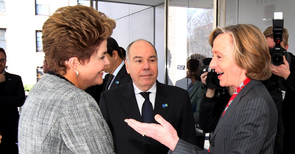A presidente Dilma Rousseff foi recebida por Susan Hockfield, presidente do Massachussets Institute of Technology (MIT)