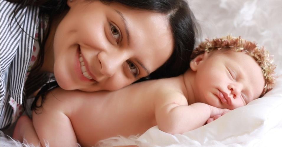 Foto de recém-nascido, feita pelo fotógrafo Roni Sanches