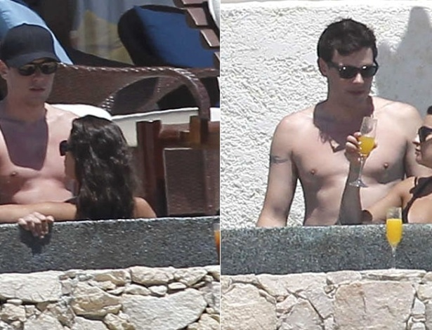 Lea Michele e Cory Monteith, que interpretam o casal Rachel e Finn na s&#233;rie &#34;Glee&#34;, passam f&#233;rias em clima de intimidade em um hotel em Cabo San Lucas, no M&#233;xico. Apesar de serem vistos juntos com frequ&#234;ncia, os dois n&#227;o confirmam o namoro (10/4/12)