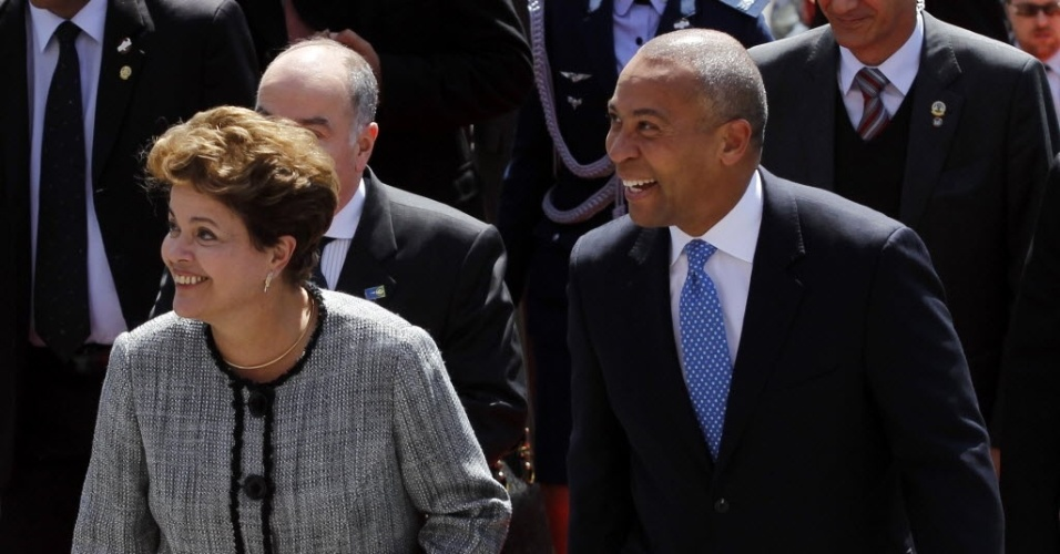 Presidente do Brasil, Dilma Rousseff, se encontra com o governador de Massachusetts,Deval Patrick em Boston