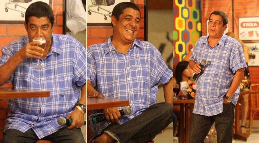 """Zeca Pagodinho grava o programa """"Samba de Primeira"""" na Barra da Tijuca, zona oeste do Rio (10/4/2012)"""