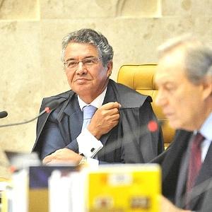 O ministro do STF Marco Aurélio de Mello (ao fundo)