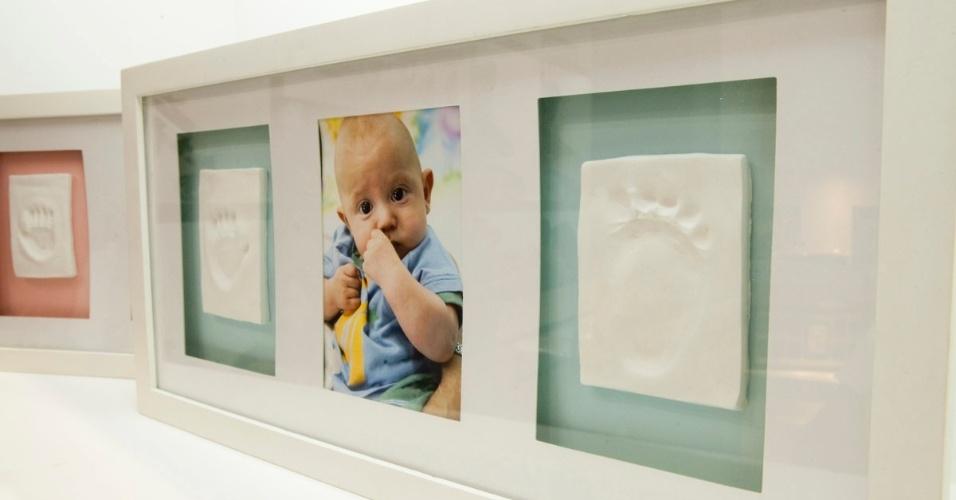 Porta-retrato com impressão do bebê