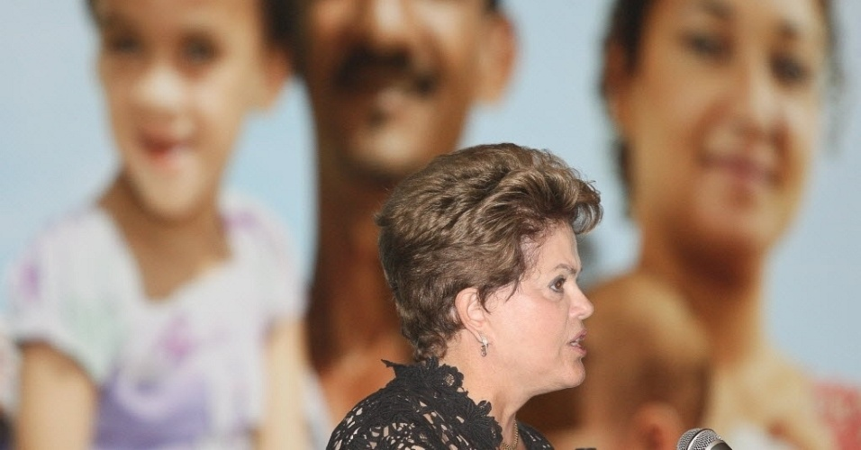 Presidente Dilma Rousseff participa da cerim&#244;nia de anuncio do resultado da selecao de proposta do Minha Casa Minha Minha Vida 2 para municipios de ate 50 mil habitantes, no Royal Tulip Hotel