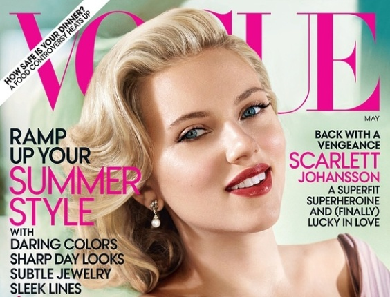 Scarlett Johansson na capa de abril da revista