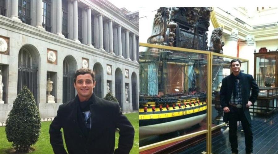 Ex-BBB Fael curte férias na Espanha e divulga imagens por sua página do Twitter (13/4/2012)