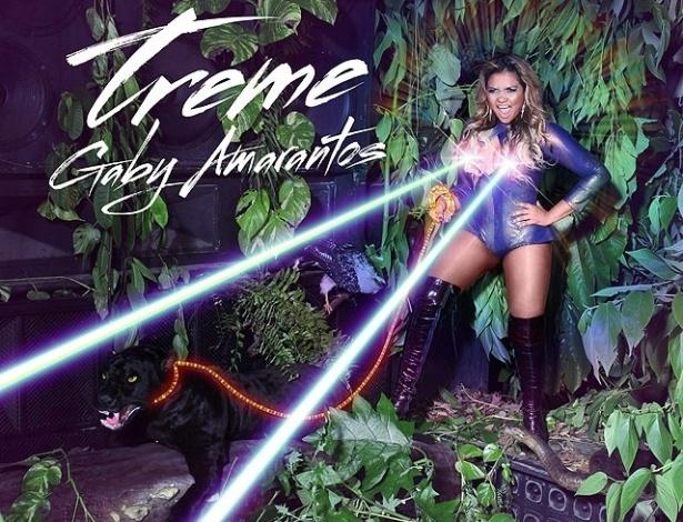 """Gaby Amarantos divulga a capa do seu novo CD, """"Treme"""" (14/4/12)"""