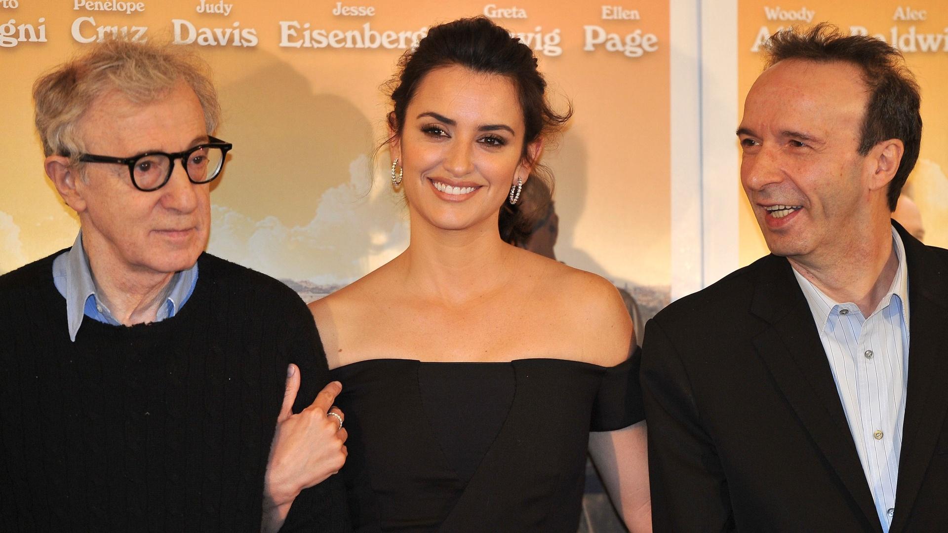 O diretor Woody Allen apresenta, em Roma, seu novo filme