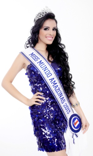Priscila Rebelo, de 19 anos, foi eleita Miss Mundo Amazonas 2013