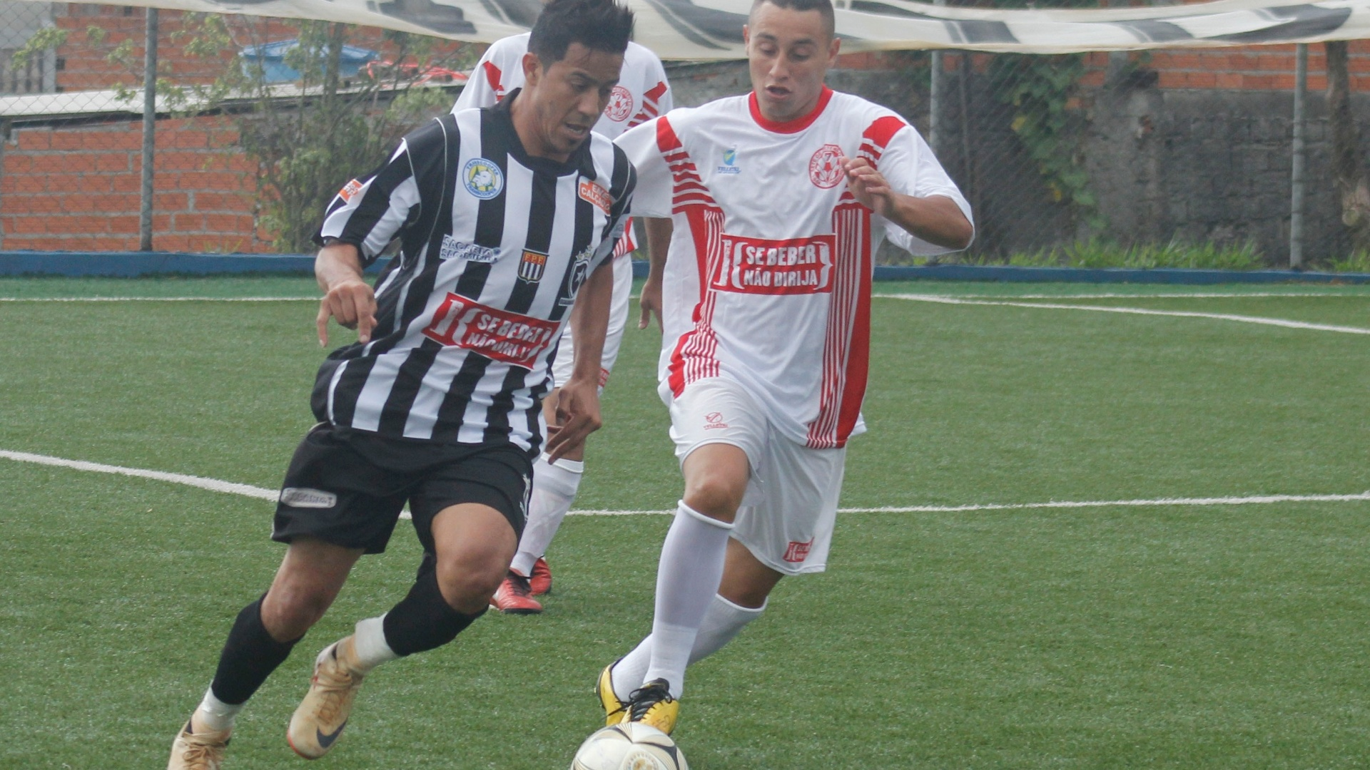 Sete de Setembro (branco) e Botafogo (preto e branco) ficaram no empate sem gols