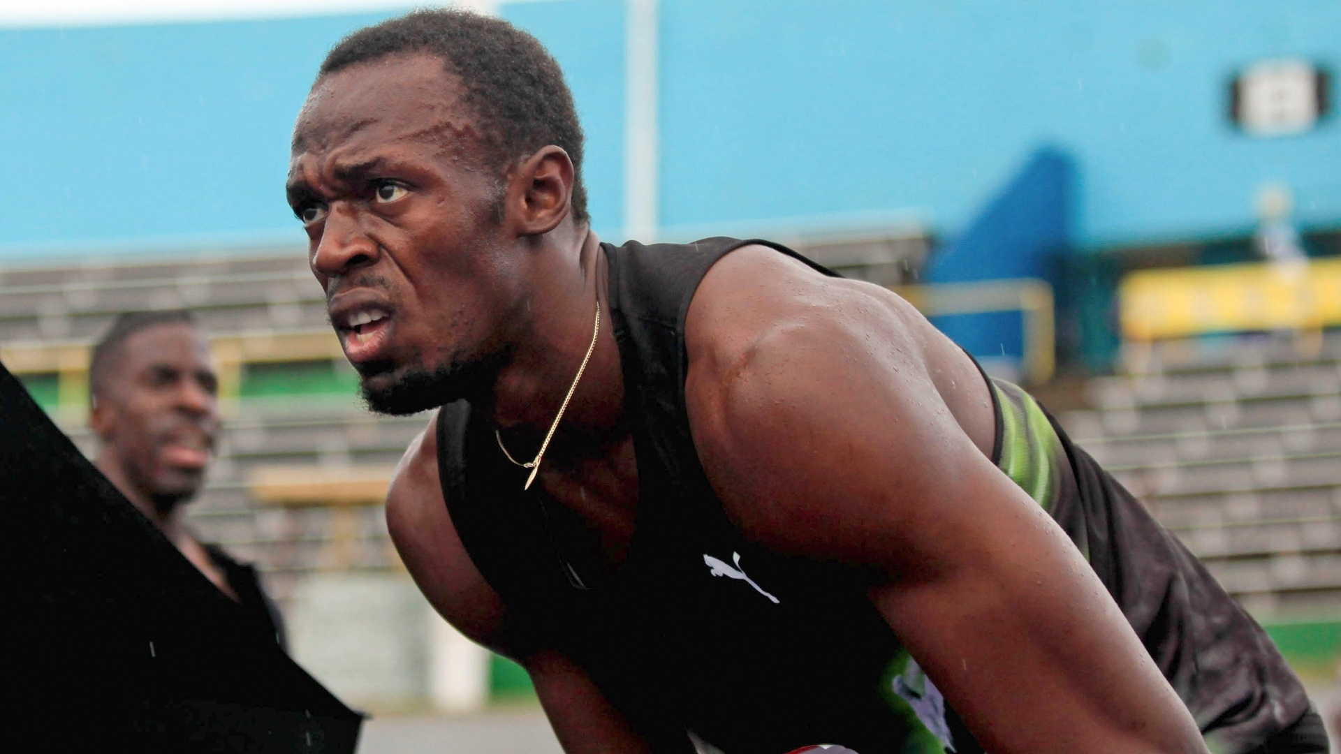 Usain Bolt aps vencer o revezamento 4x100m em Kingston