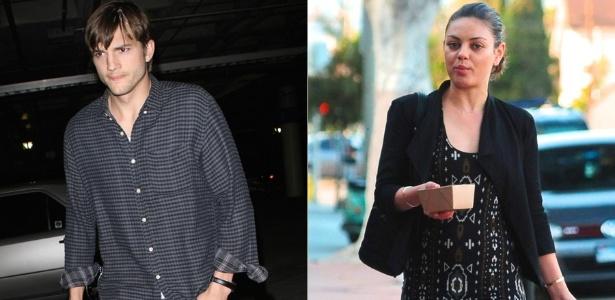 Ashton Kutcher e Mila Kunis (16/4/2012)