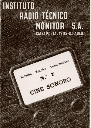 Curso de cine sonoro aproveita da popularização do cinema para atrair estudantes, de 1957