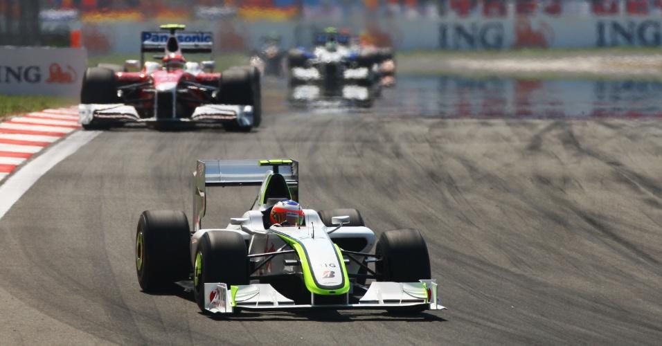 Em 2009, Barrichello guiava pela Brawn, que tinha o melhor carro da temporada. Mas, no GP da Turquia, ao tentar ultrpassar Jenson Button, sua embreagem quebrou e o brasileiro teve de abandonar, deixando o companheiro de equipe abrir 27 pontos