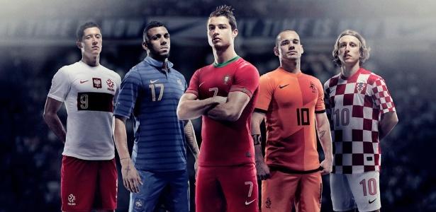 Novos uniformes das seleções da Polônia, França, Portugal, Holanda e Croácia