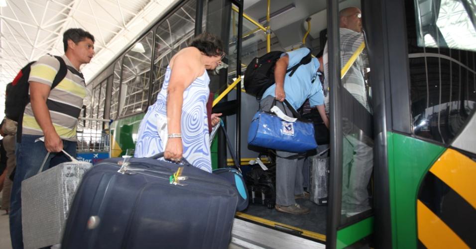 O Terminal 4 do aeroportos de Cumbica, em São Paulo, foi inaugurado em fevereiro de 2012