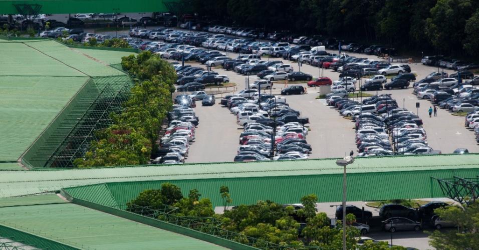 Principal estacionamento do aeroporto de Cumbica, em São Paulo