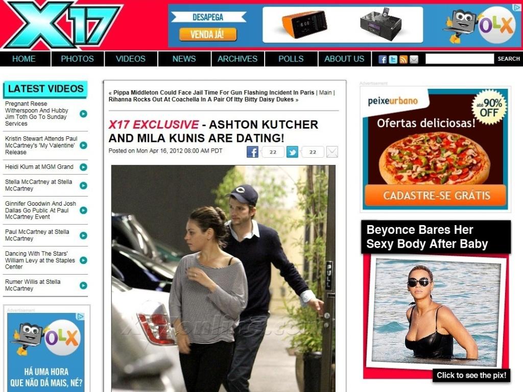 Site publica foto em que Ashton Kutcher e Mila Kunis aparecem juntos (16/4/12)