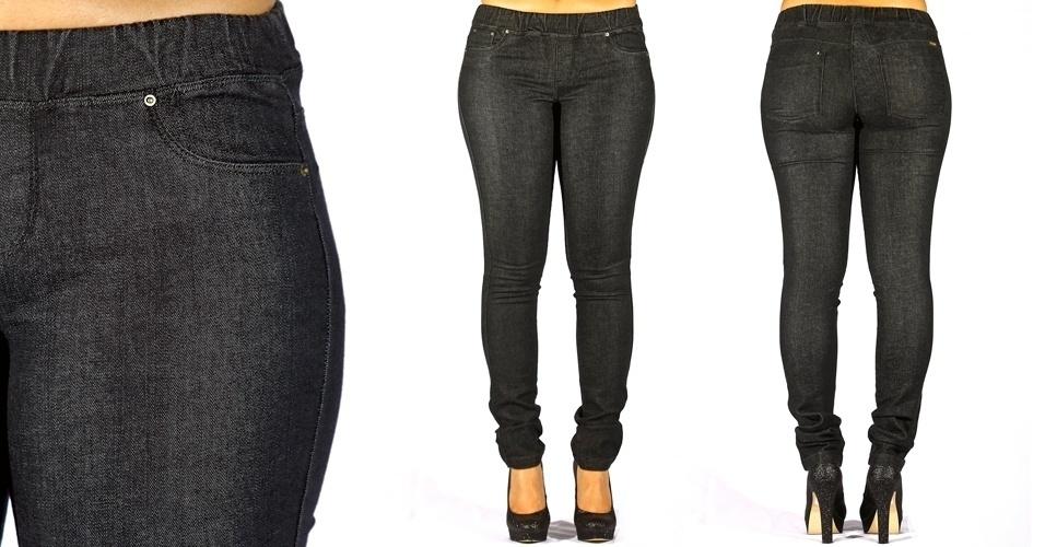 Calça jeans black skinny leg com elástico no cós; R$99,90 na MeMove  (Tel.: 2098-4544)