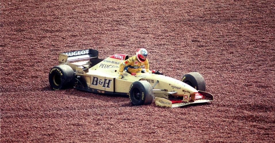 De Jordan, Rubens Barrichello largou em segundo lugar no GP do Brasil de 1996 e chegou a duelar com Michael Schumacher pela terceira posição no final da prova, mas acabou rodando e abandonou