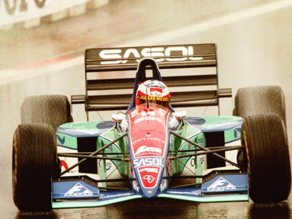 No GP da Blgica de 1994, Rubens Barrichello conquistou uma improvvel pole position correndo de Jordan, mas acabou rodando e abandonando quando j tinha cado para o quinto lugar