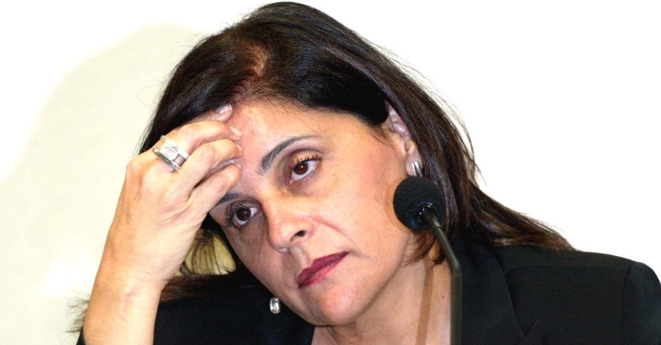 Simone Vasconcelos, ex-gerente da SMP&B, uma das agências de Marcos Valério, uma das acusadas de participar do Mensalão