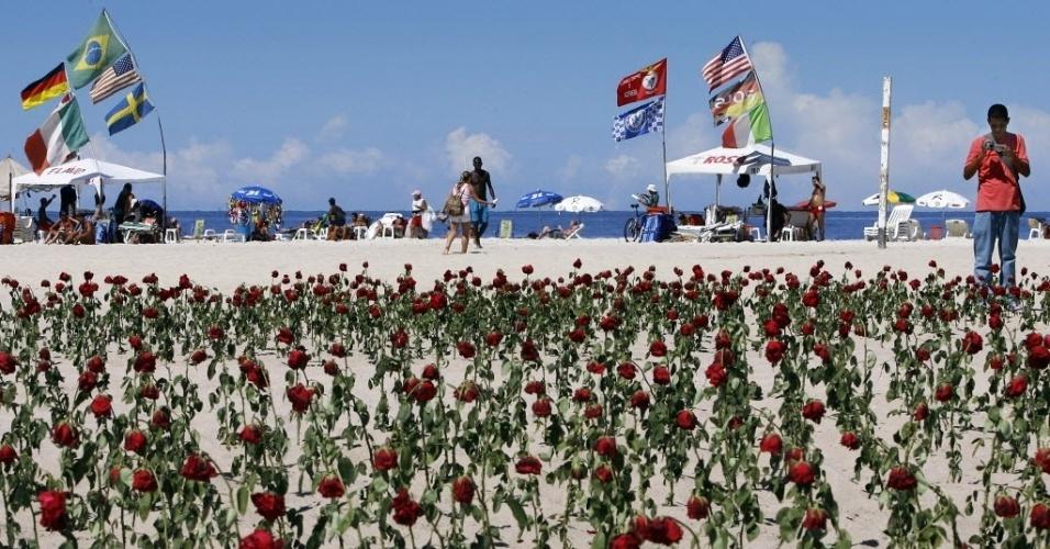 jardim rosas vermelhas:Turista registra imagem de jardim com 1300 rosas vermelhas colocadas