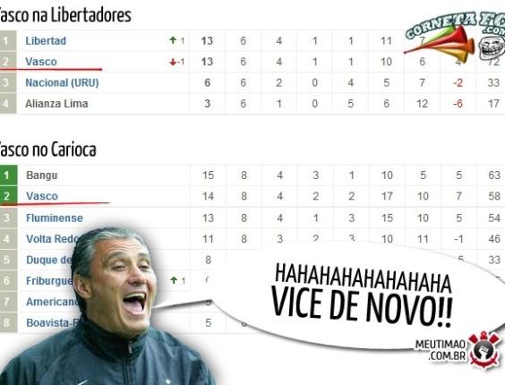 Corneta FC: Vasco confirma fama de vice