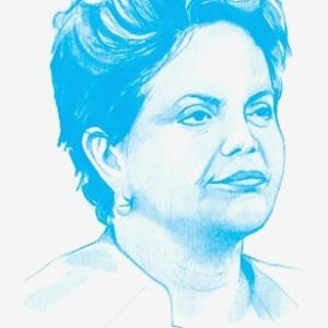 Ilustração da presidente Dilma Rousseff para a lista das 100 pessoas mais influentes do mundo da Time