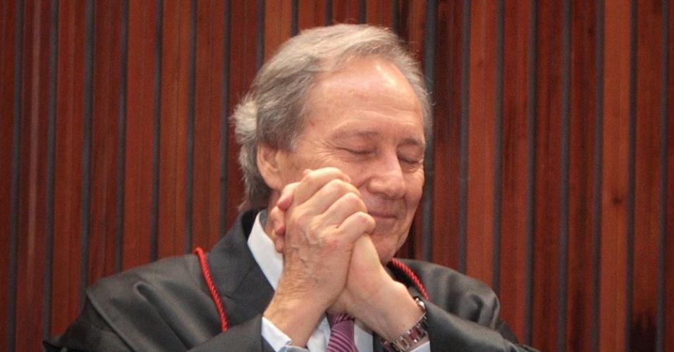 Ministro do STF (Supremo Tribunal Federal) Ricardo Lewandowski agradece homenagens feitas a ele durante a última sessão jurisdicional presidida por ele no TSE (Tribunal Superior Eleitoral), ontem (17), em Brasília