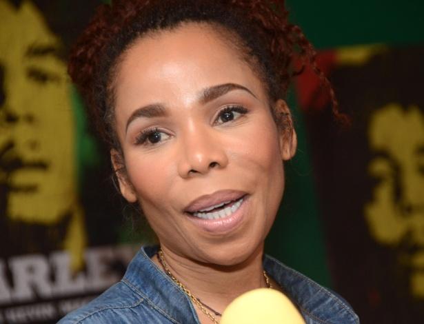 Cedella Marley participa de entrevista, na Jamaica, para falar de estreia do documentário sobre seu pai, Bob Marley (18/04/12)