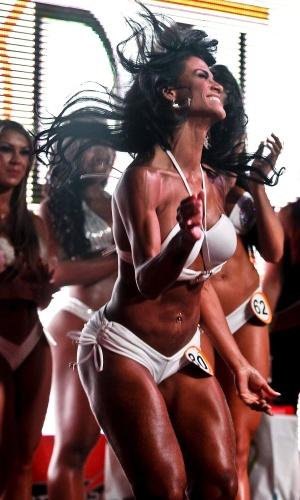 A alegria de Marissol quando foi anunciado que ela seria a nova Garota Fitness Brasil 2012