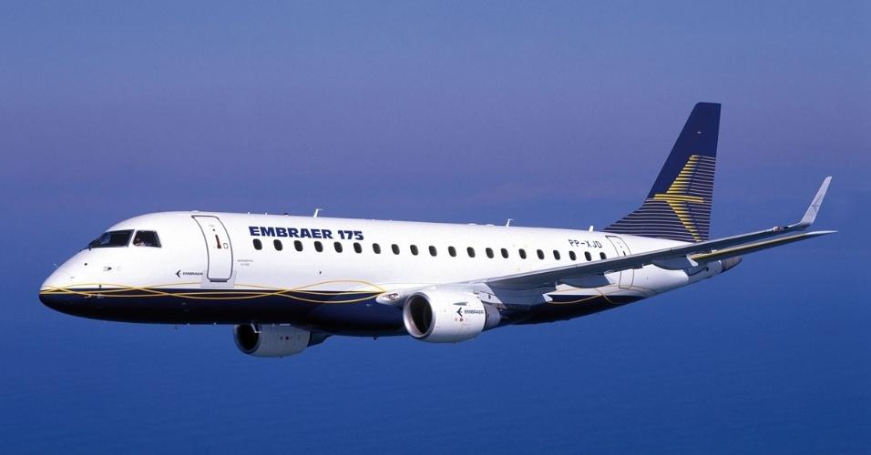 Avião comercial Embraer 175