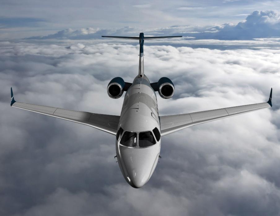 Avião executivo Legacy 450, produzido pela Embraer