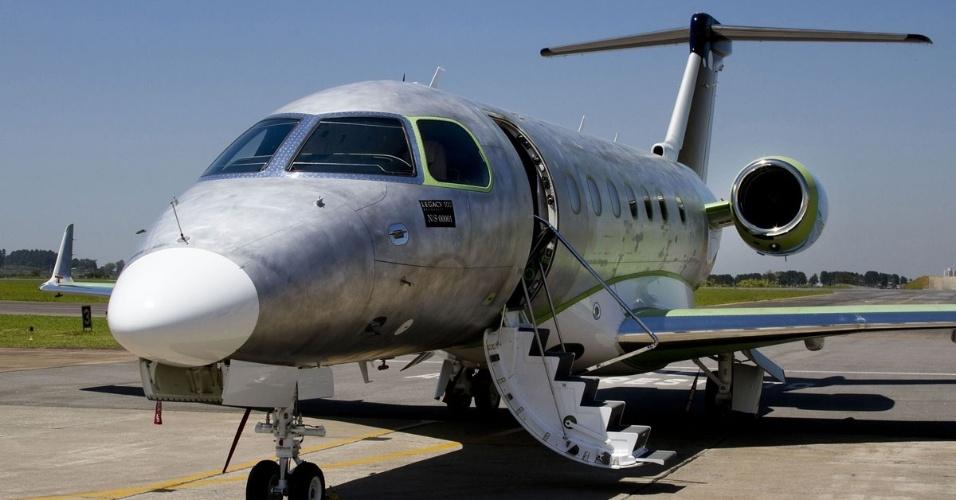 Avião executivo Legacy 500, produzido pela Embraer