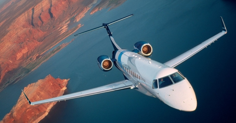 Avião executivo Legacy 600, produzido pela Embraer