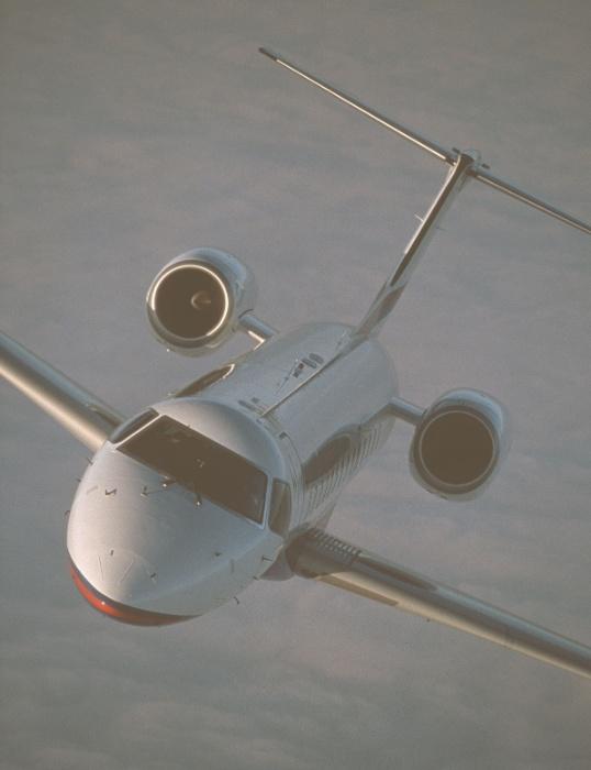 Avião executivo Legacy Shuttle, produzido pela Embraer