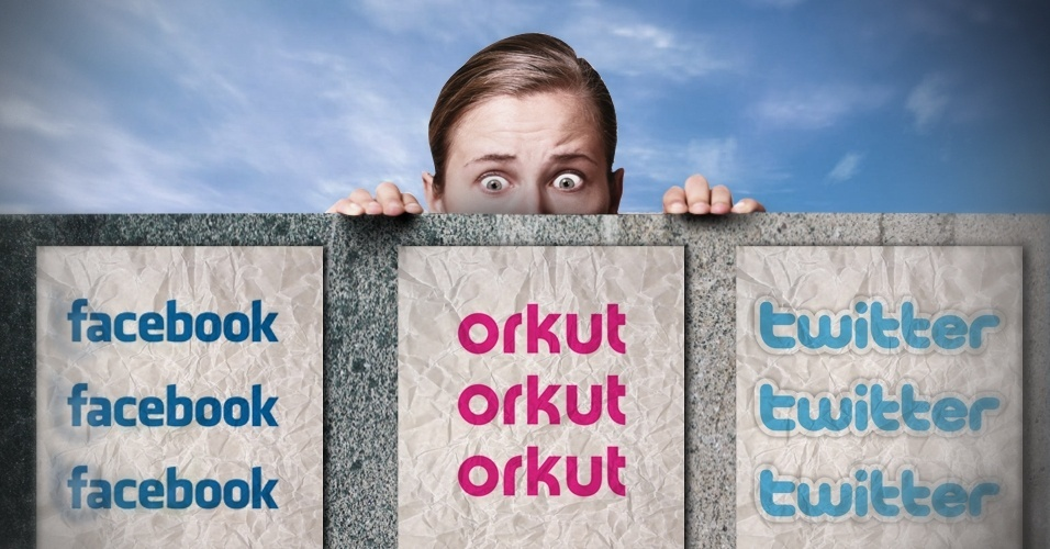 Chamada para álbum sobre privacidade em redes sociais (Facebook, Orkut e Twitter)