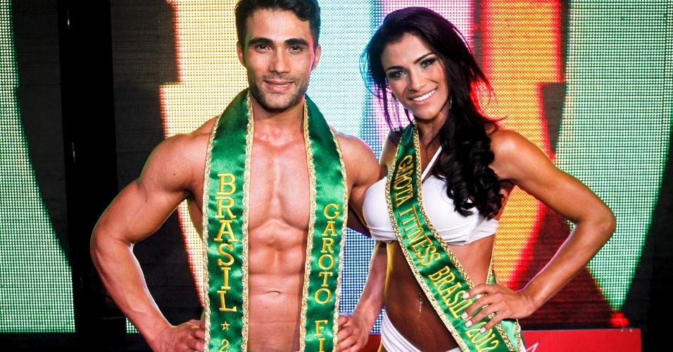 Júnior Moreno e Marissol Dias são o Garoto e Garota Fitness Brasil 2012. Eles ganharam de mais de 80 candidatos selecionados pelo concurso em 2 milhões de inscrições