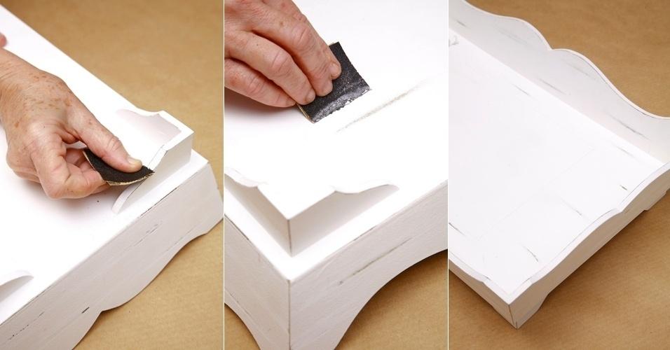 Passo a passo de personalização de bandejas de madeira - Decoração (2012)