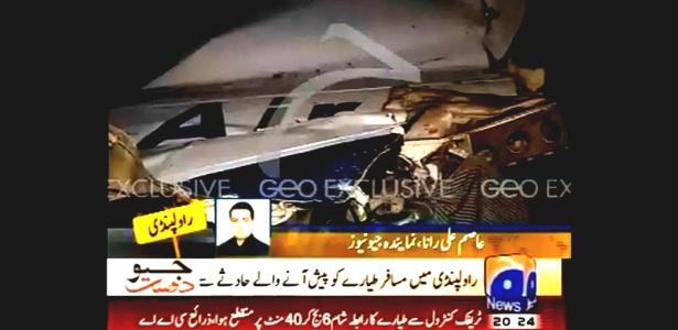 Avião Boeing 737, da Bhoja Airline, com 131 pessoas a bordo caiu próximo a base área de Chaklala